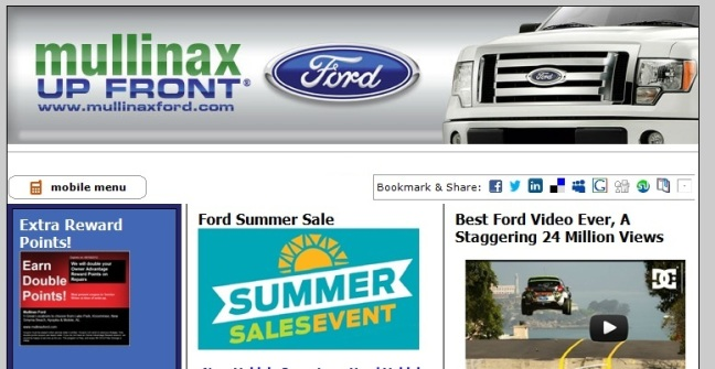 Mullinax Ford Up Front® Newsletter & Service Coupons