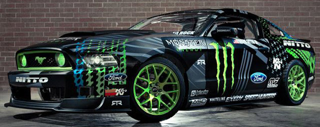 Vaughn Gittin Jr unveils 2014 Ford Mustang RTR Drift Team